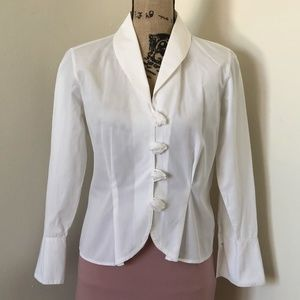 ANNE FONTAINE Fitted Summer Blazer Top *10 US